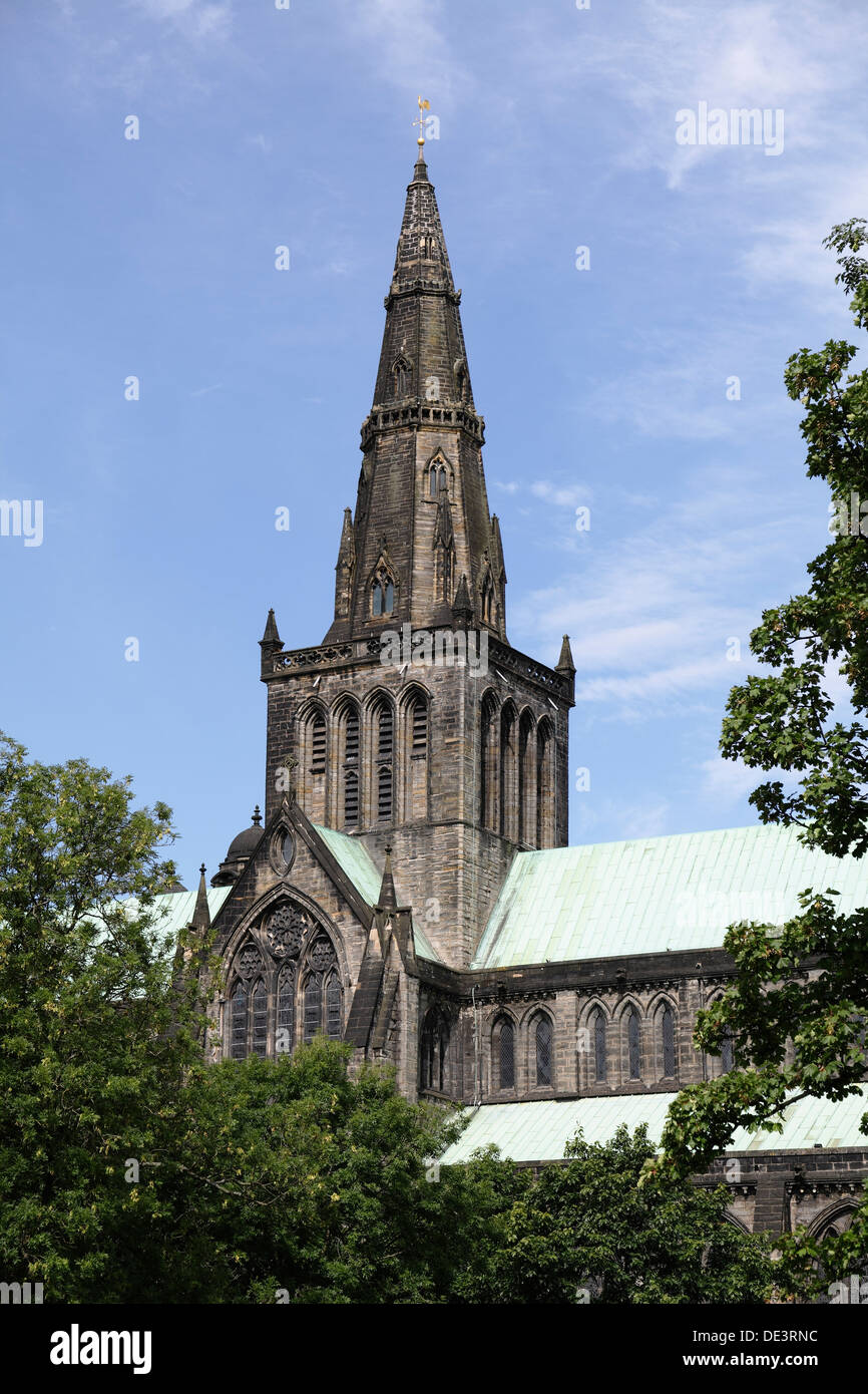 The spire of Glasgow Cathedral, Scotland, UK - Stock Image