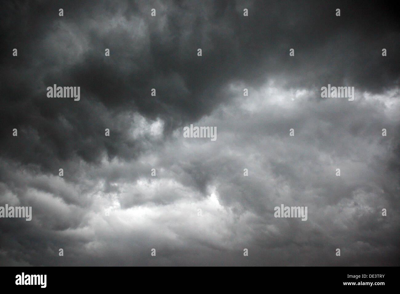 Bad Doberan, Germany, menacing clouds in the sky Stock Photo