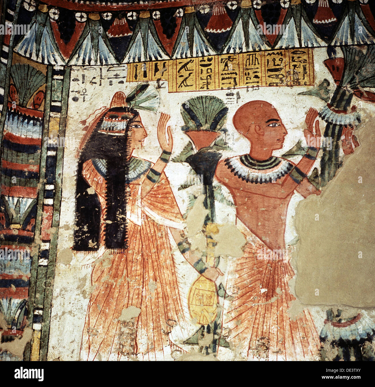 Wall painting from the tomb 278 of Amenemhab. - Stock Image