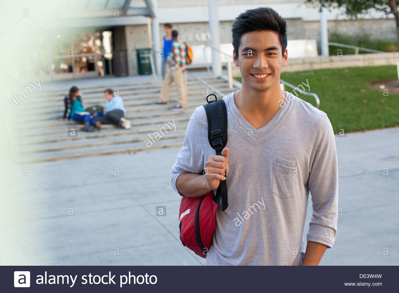 Student on campus - Stock Image