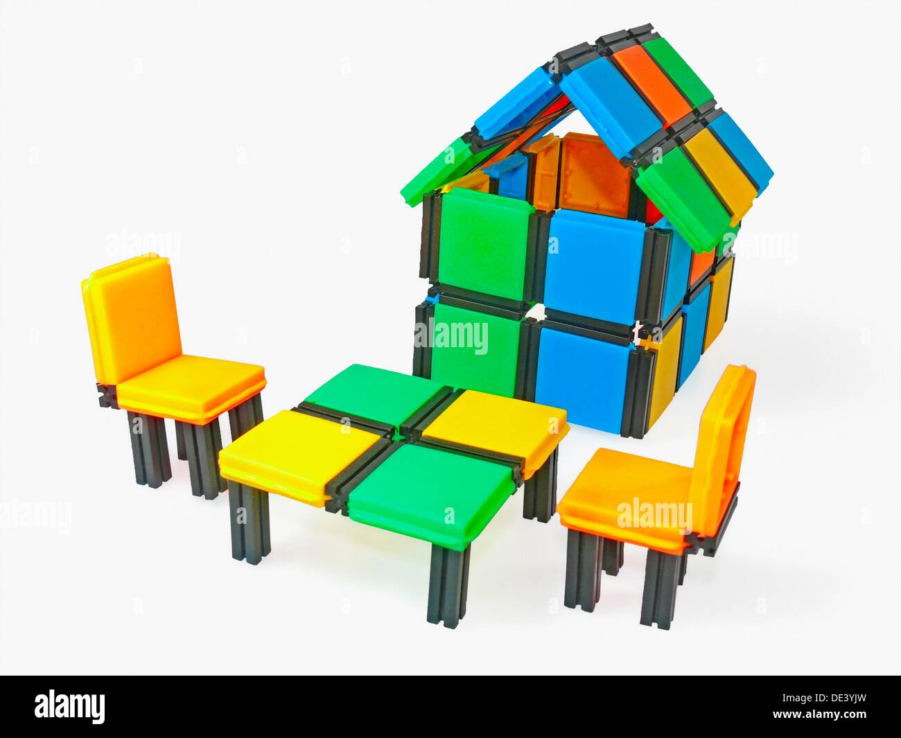 Close-up of a model home with Sitting Arrangement - Stock Image
