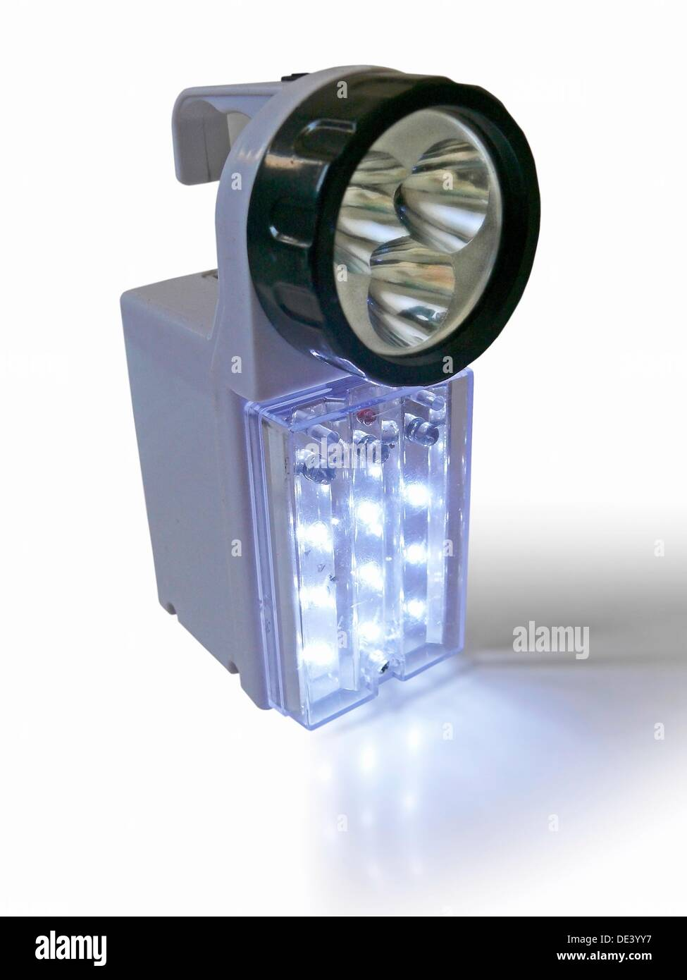 Rechargeable Torch with LED lights - Stock Image