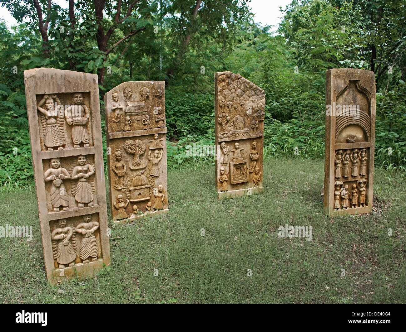 The myth and ritual of Ganagaur is carved on a slate Sirohi, Rajasthan, India - Stock Image
