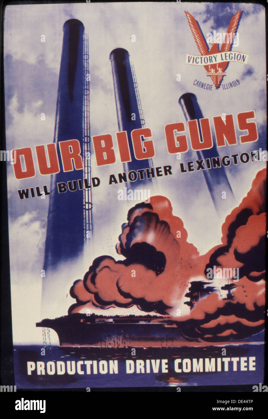 Our big guns will build another Lexington. Production Drive Committee. 534927 - Stock Image