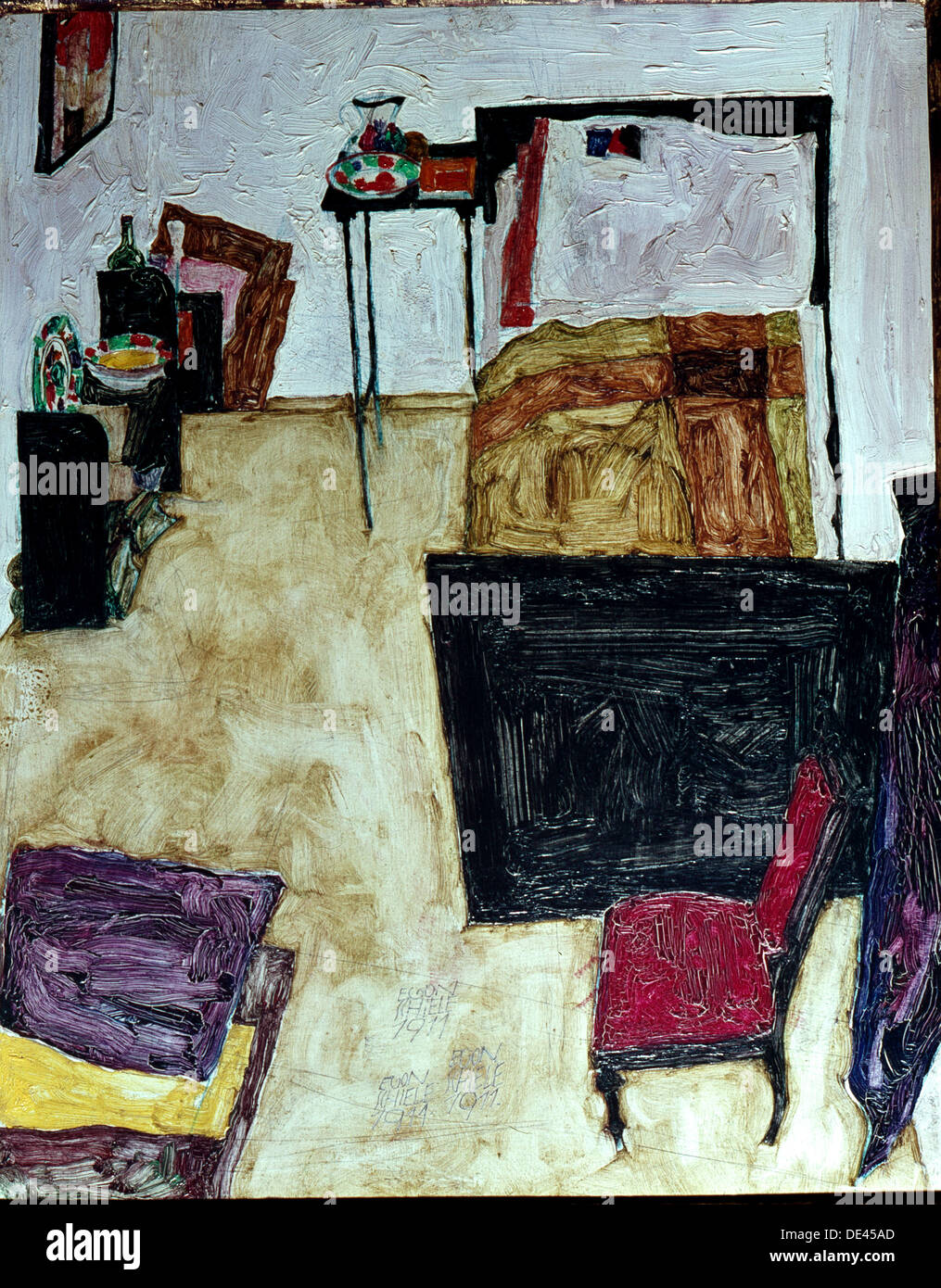Mein Wohnzimmer, painting by Egon Schiele Stock Photo: 60328309 - Alamy