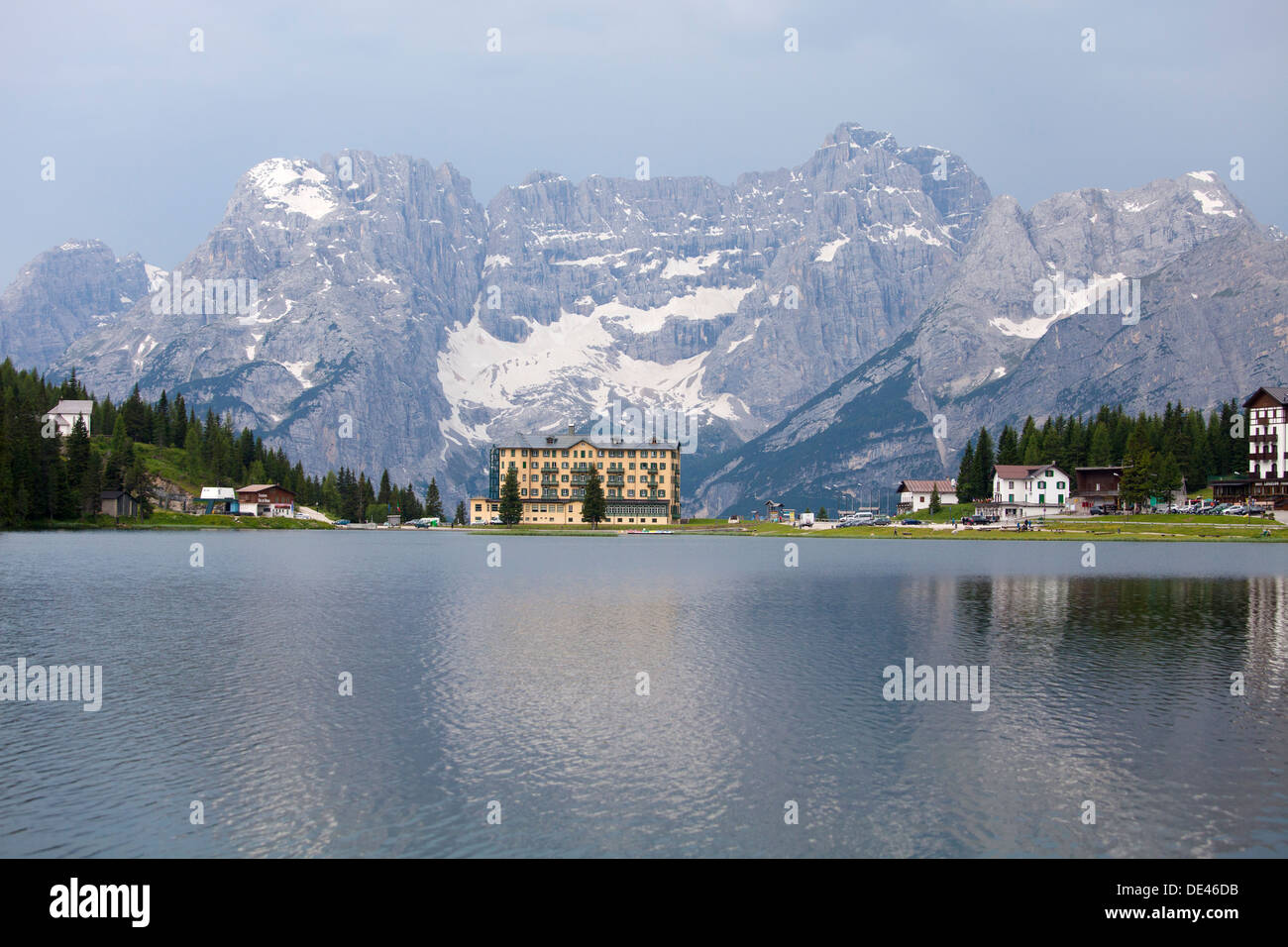 Lake in Misurina, Dolomites, South Tyrol,;  Lago di Misurina, Dolomiti - Stock Image