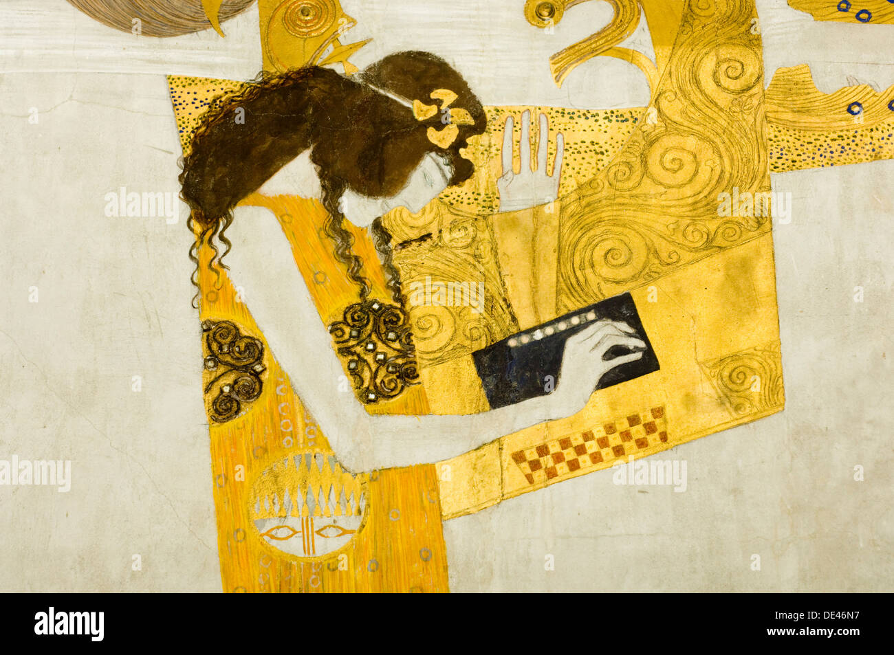 Österreich, Wien 4, Secession, Beethovenfries, Gustav Klimts Beethovenfries - Stock Image