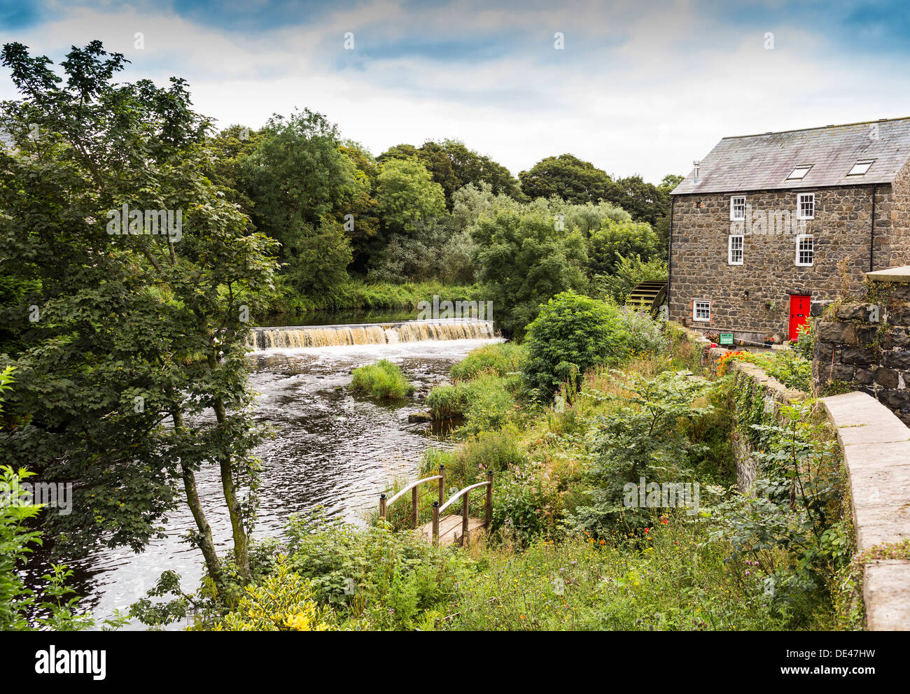 Salmon Station River Bush Bushmills County Antrim Northern Ireland - Stock Image