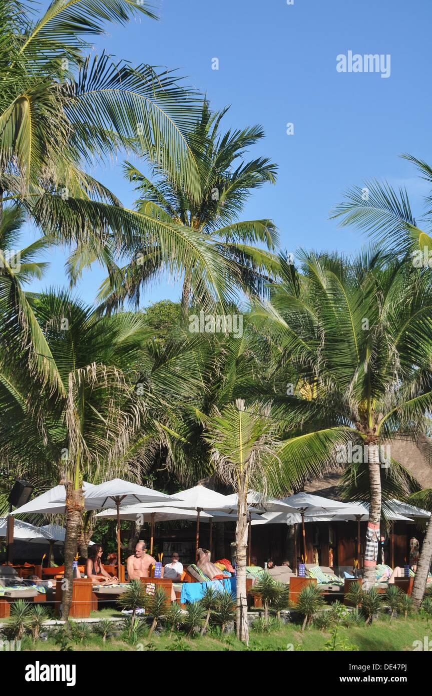 Kuta Beach Bali Indonesia Resort By The Beach Stock