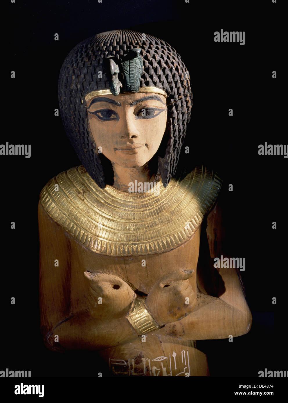 One of the many shabti from the tomb of Tutankhamun. - Stock Image