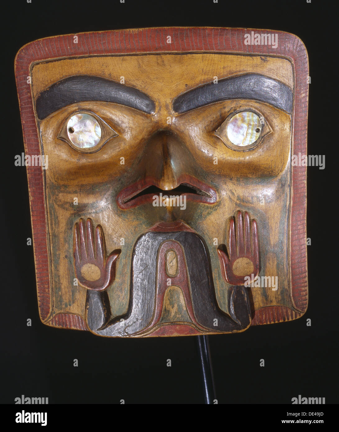 Frontlet worn by a chief attached to his headdress. - Stock Image