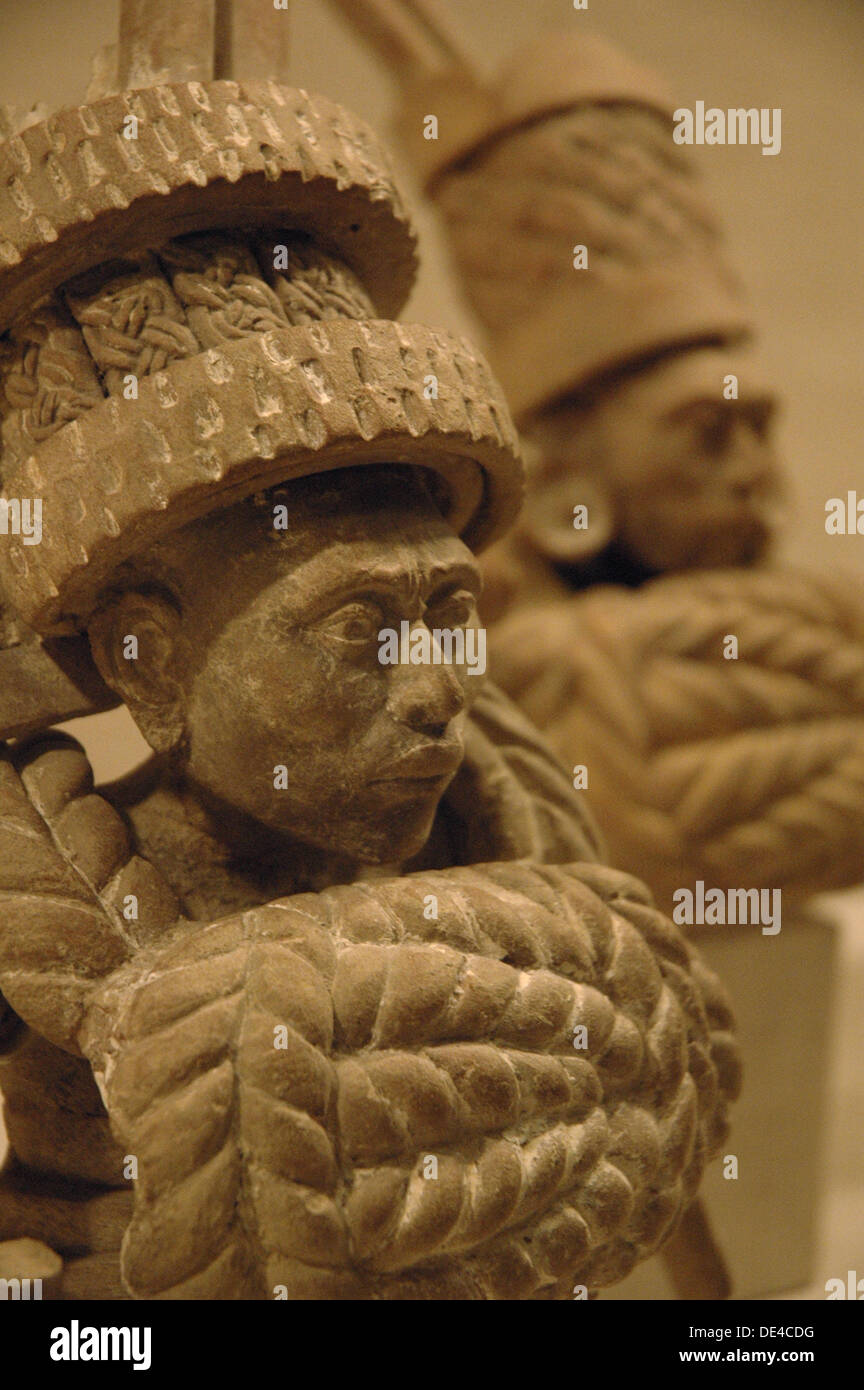 Mexican pre-Colombian statues - Stock Image