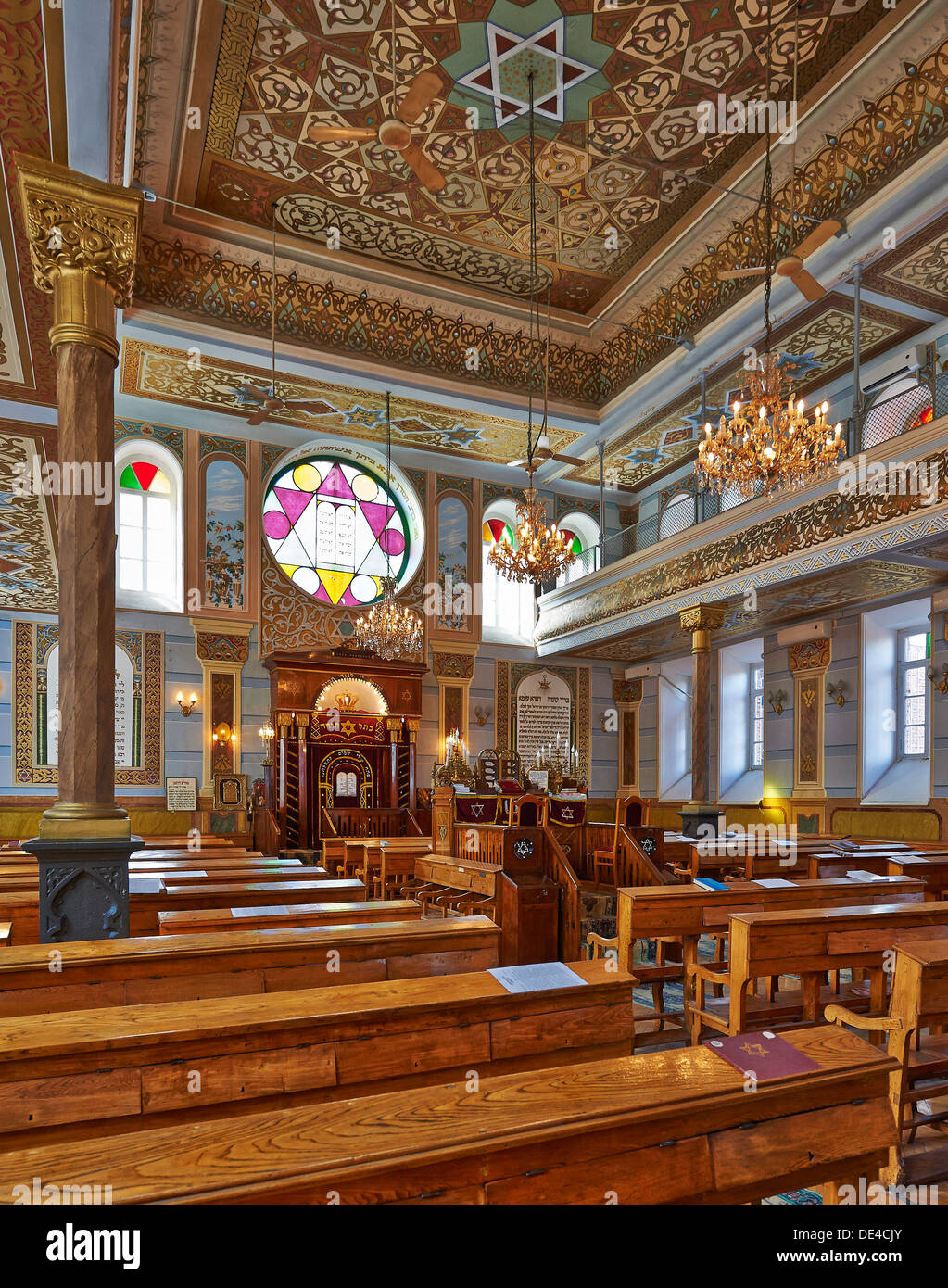 interior shot of synagogue, Tbilisi, Georgia - Stock Image