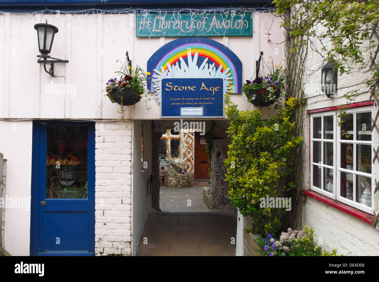 Quirky Shop down an alleyway in Glastonbury. Somerset. England. UK. - Stock Image