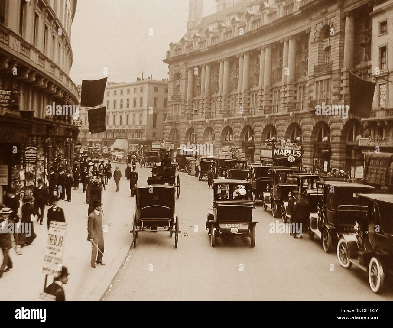 London Regent Street early 1900s - Stock Image