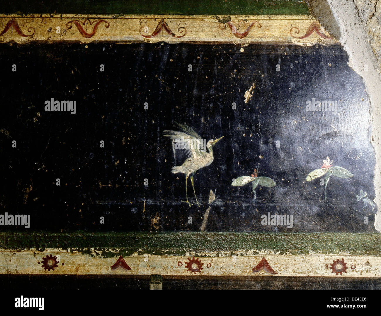 Fresco from the Villa of the Mysteries. - Stock Image