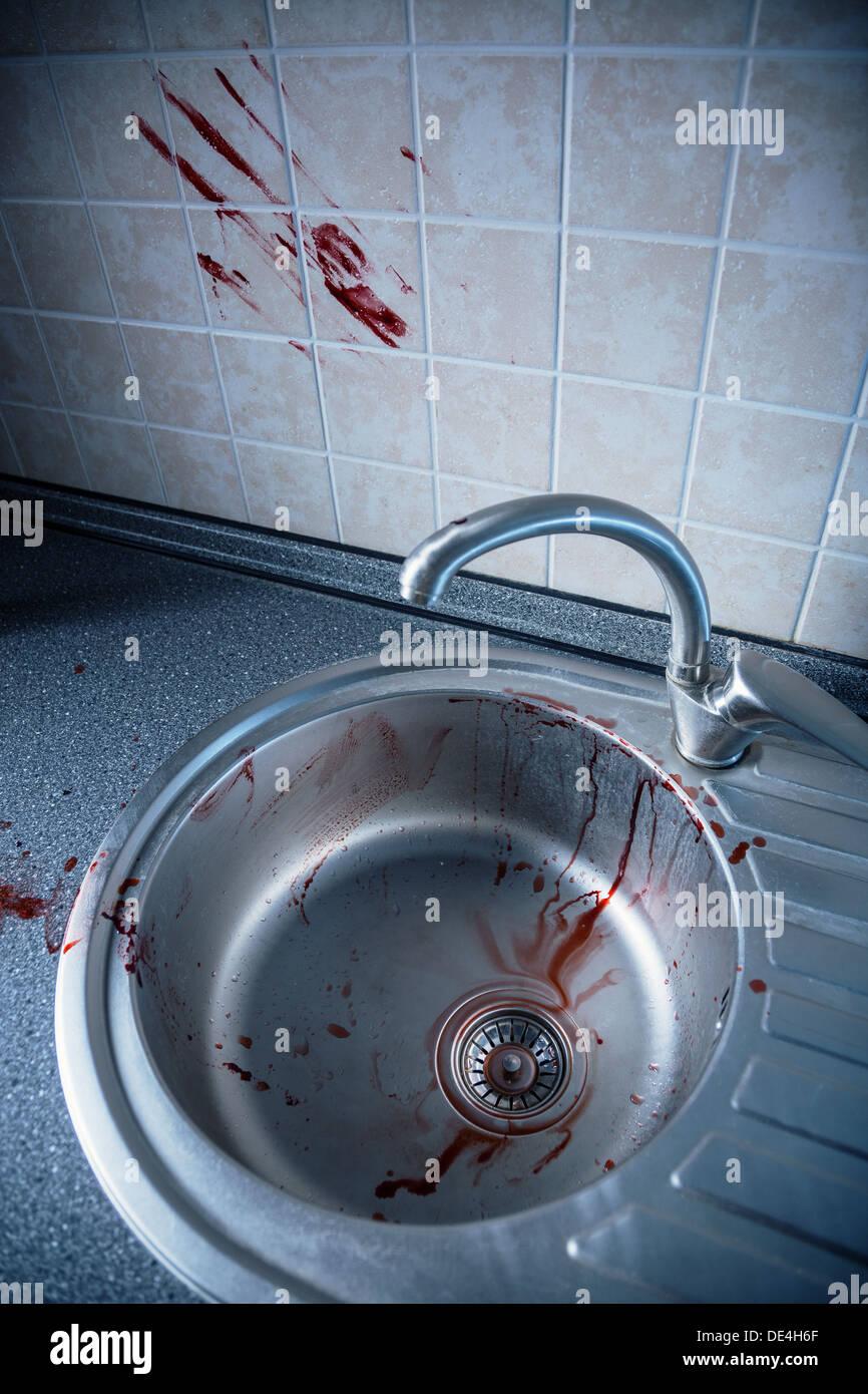 Blood Washbasin Stock Photos & Blood Washbasin Stock Images - Alamy