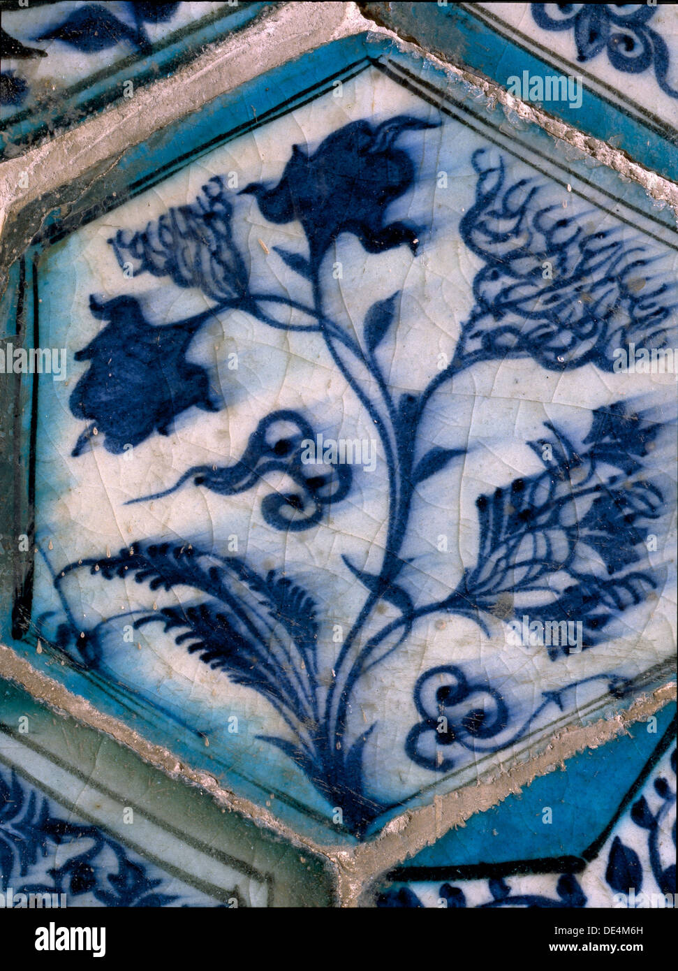 Mismatched Iznik style tiles from a wall panel Stock Photo: 60339961 ...