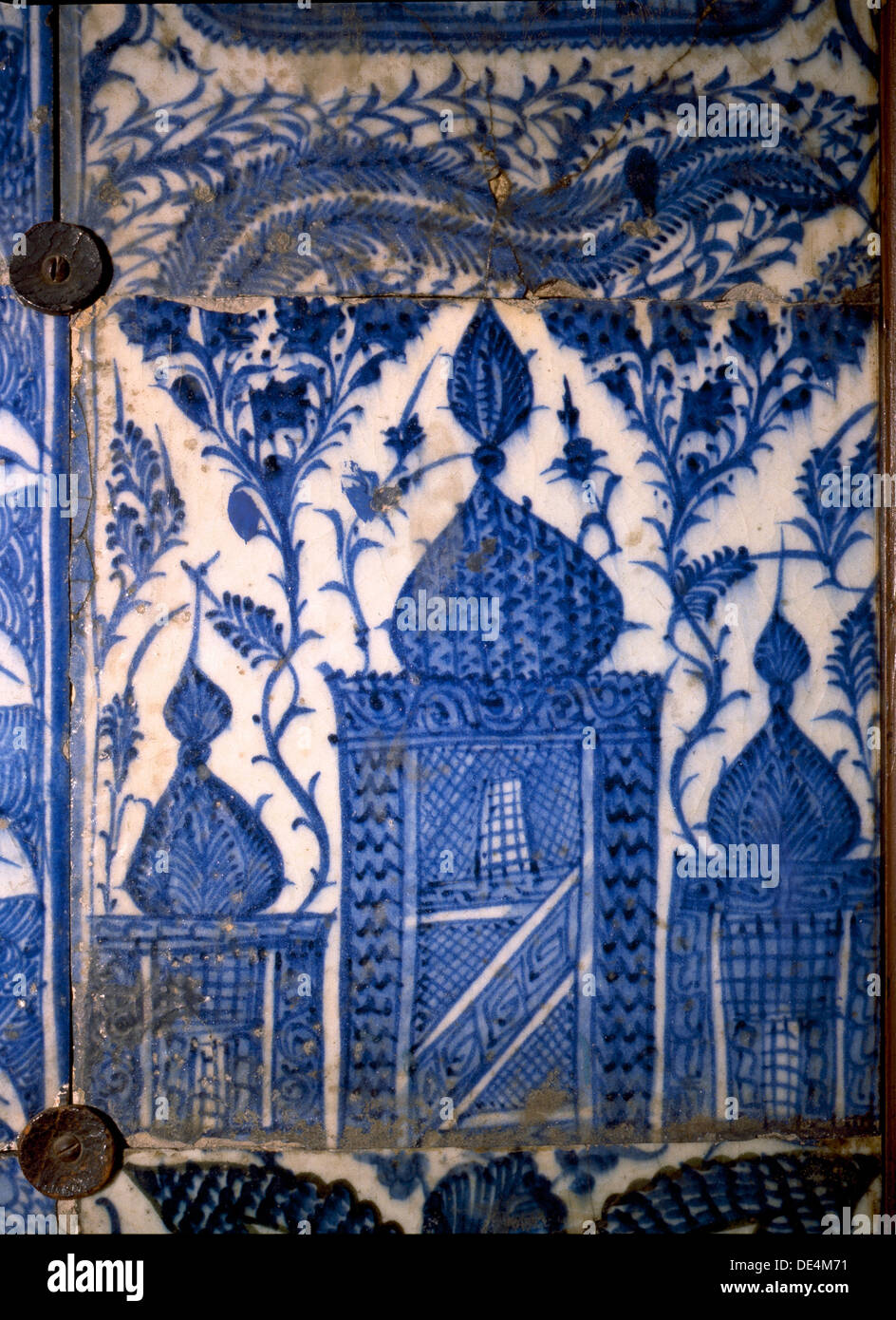 Mismatched Iznik style tiles from a wall panel Stock Photo: 60339973 ...