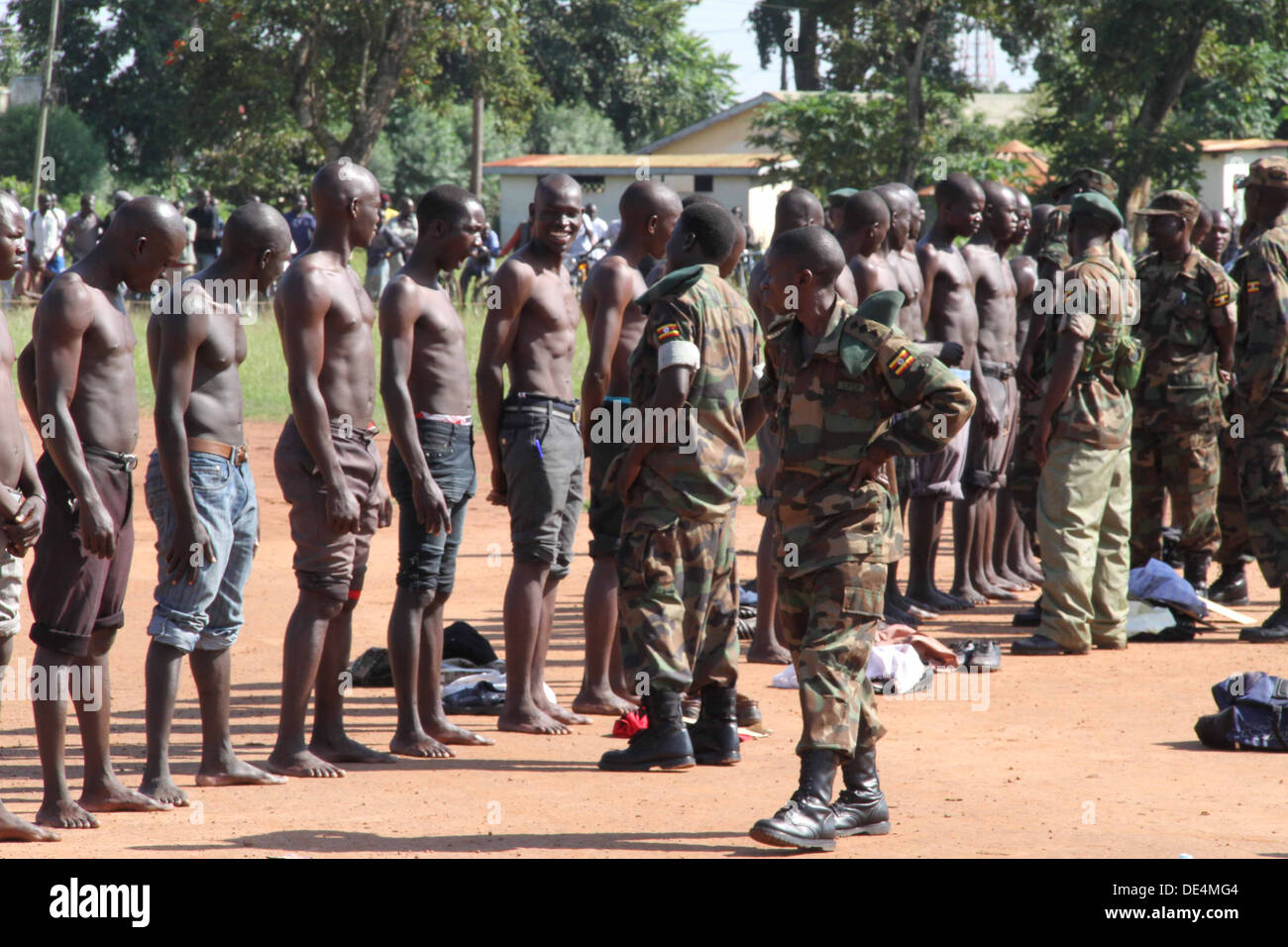 many youth turned up for recruitment in the army, few were absorbed