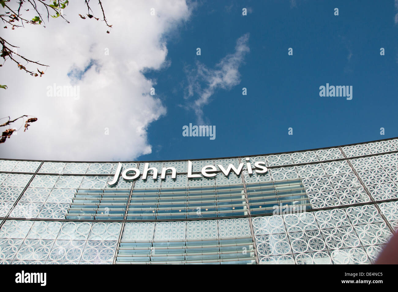 Stratford. Westfield shopping centre. John Lewis facade. Stock Photo