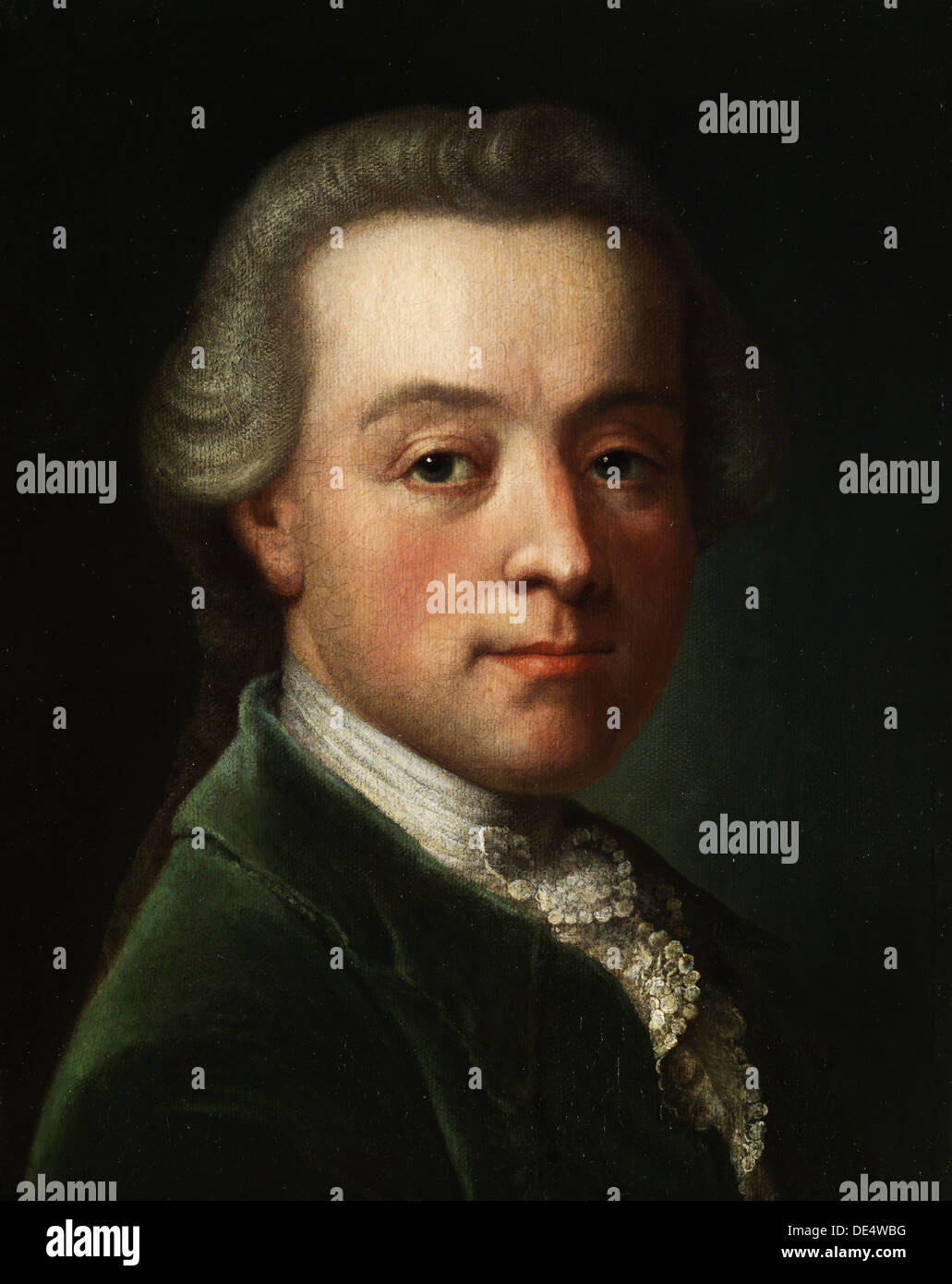 Portrait of the composer Wolfgang Amadeus Mozart (1756-1791), c. 1789. Artist: Anonymous - Stock Image