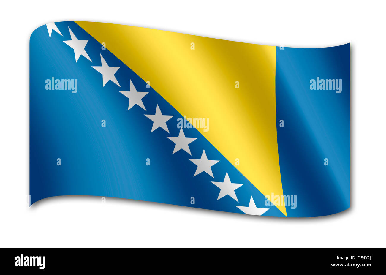 Flag of Bosnia and Herzegovina - Stock Image