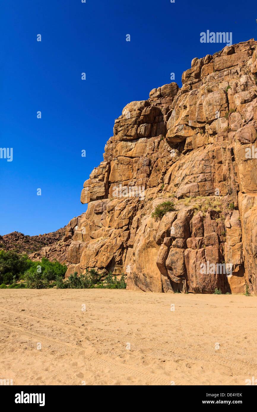 Rocky landscape, Ugab Rivier, Damaraland, Namibia, Africa Stock Photo