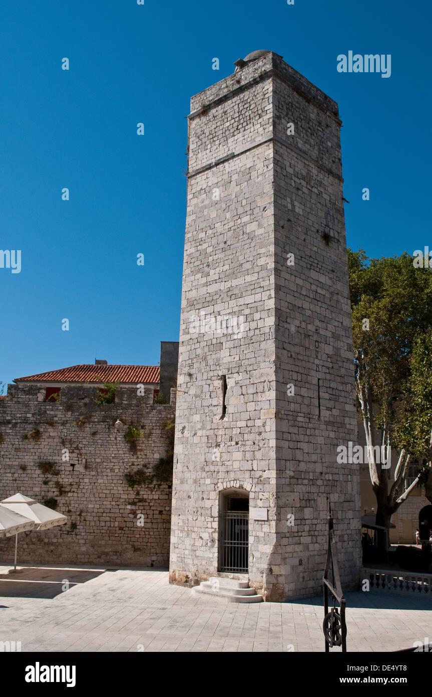 Captain's Tower, Zadar, Croatia - Stock Image