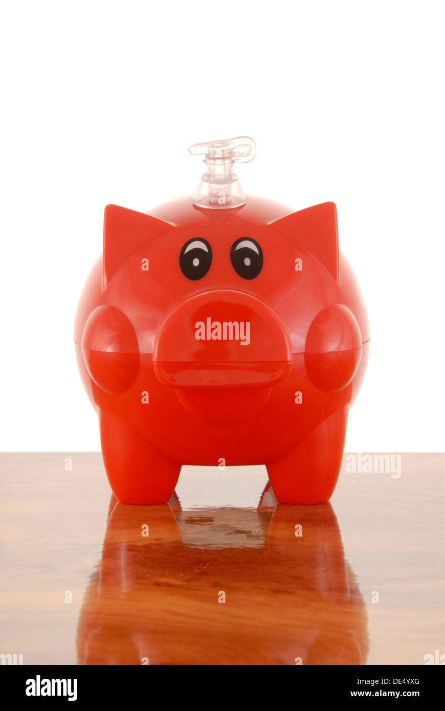 Piggybank with valve, symbolic image for inflated banks - Stock Image