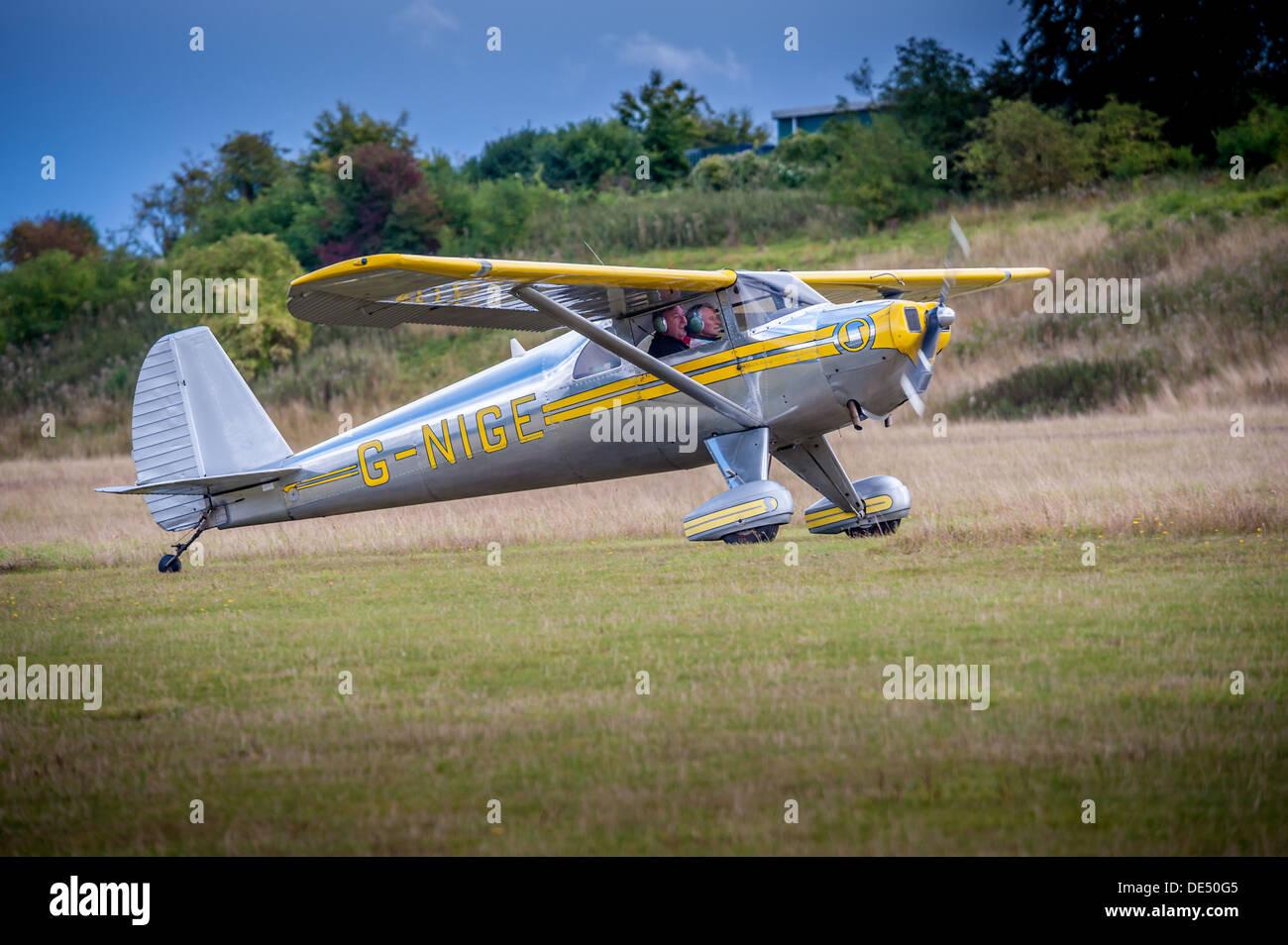 Luscombe vintage aeroplane - Stock Image