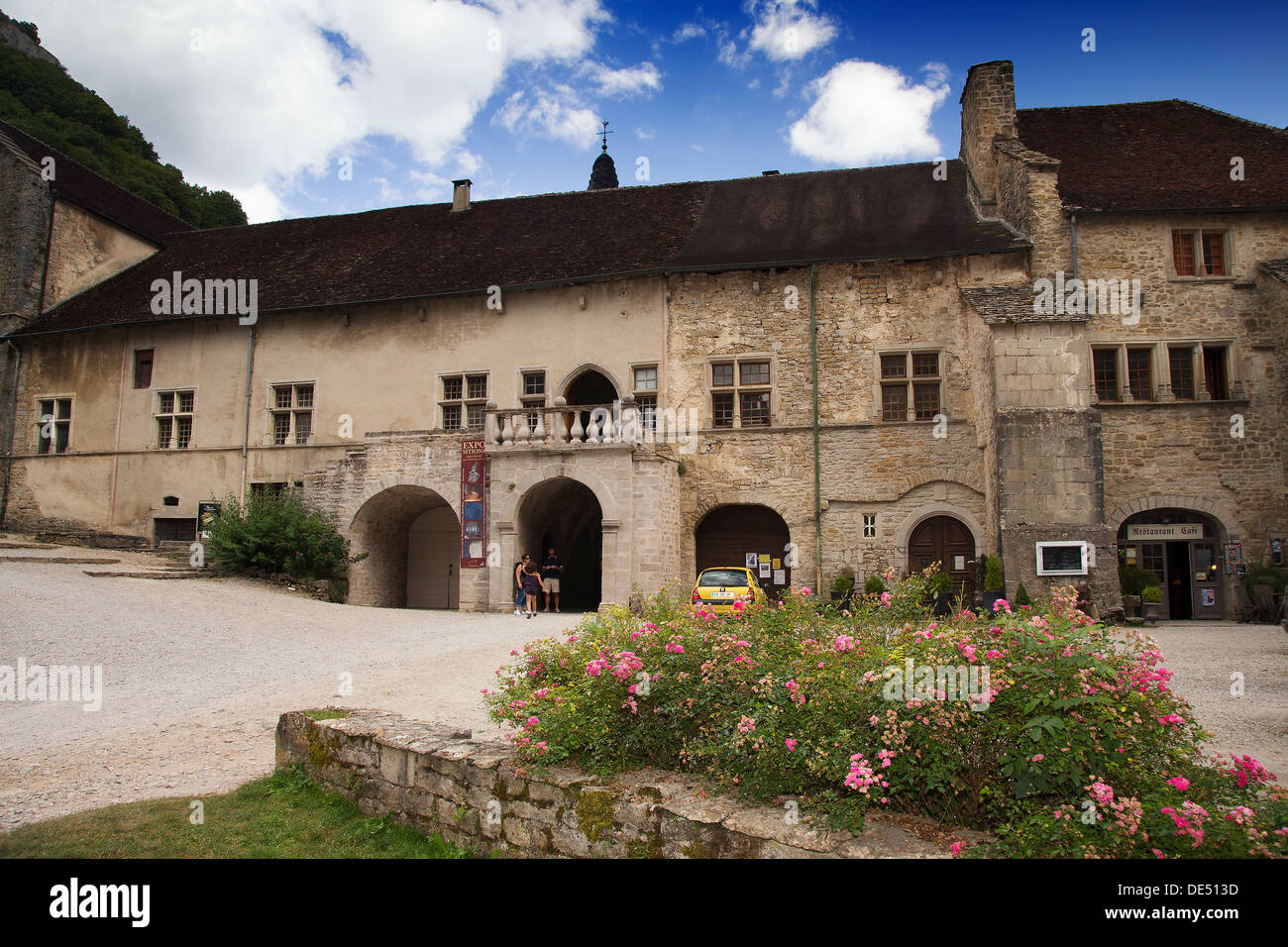 Abbey of Saint-Peter in Baume les Messieurs, Jura region of France - Stock Image