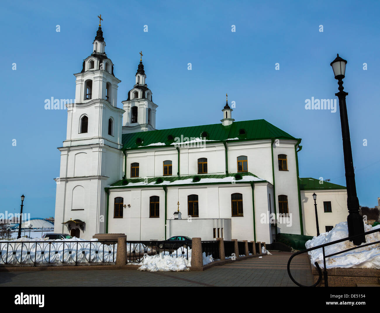 Cathedral of Holy Spirit in Minsk - Stock Image