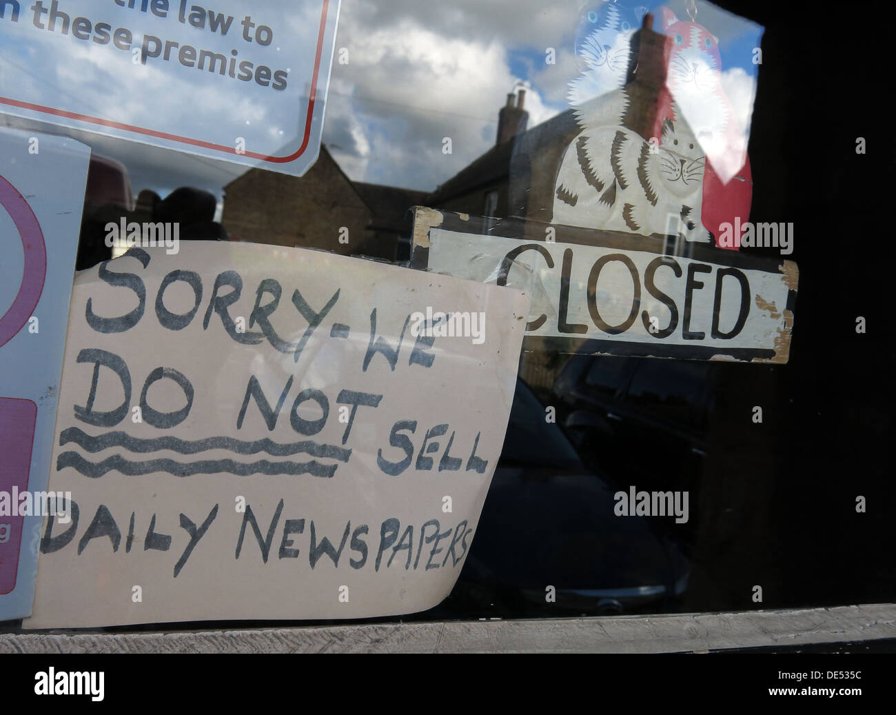 Decline in the sale of daily newspapers - Stock Image