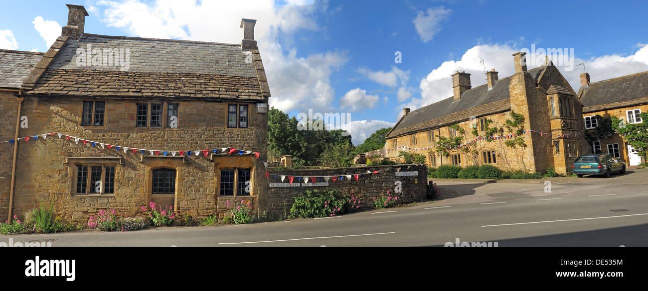 The Borough, Montecute village, South Somerset,pano,panorama