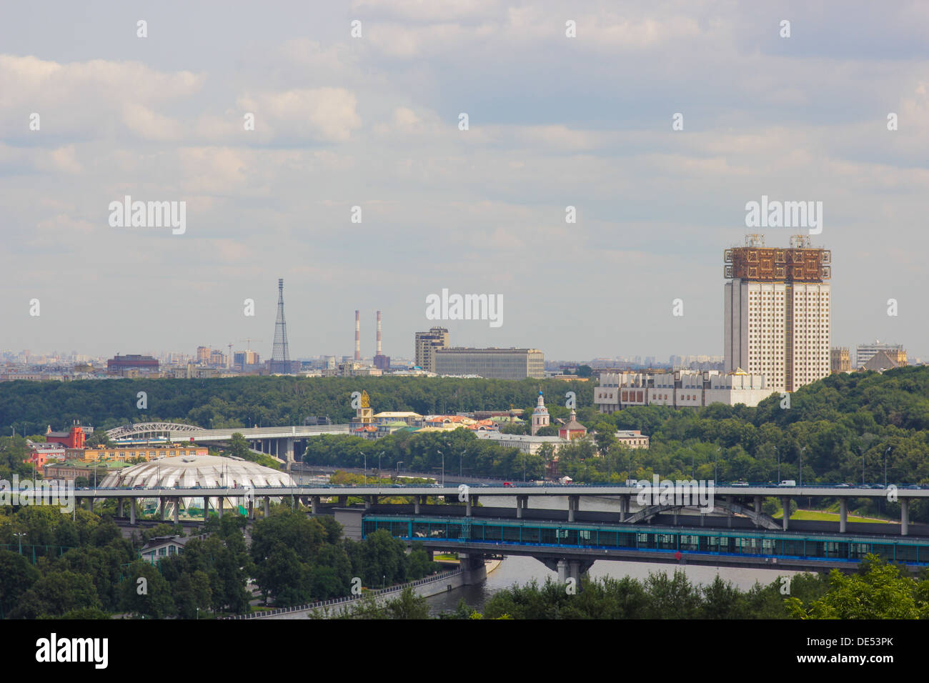 Moscow, Vorobyevy Gory: observation deck 22