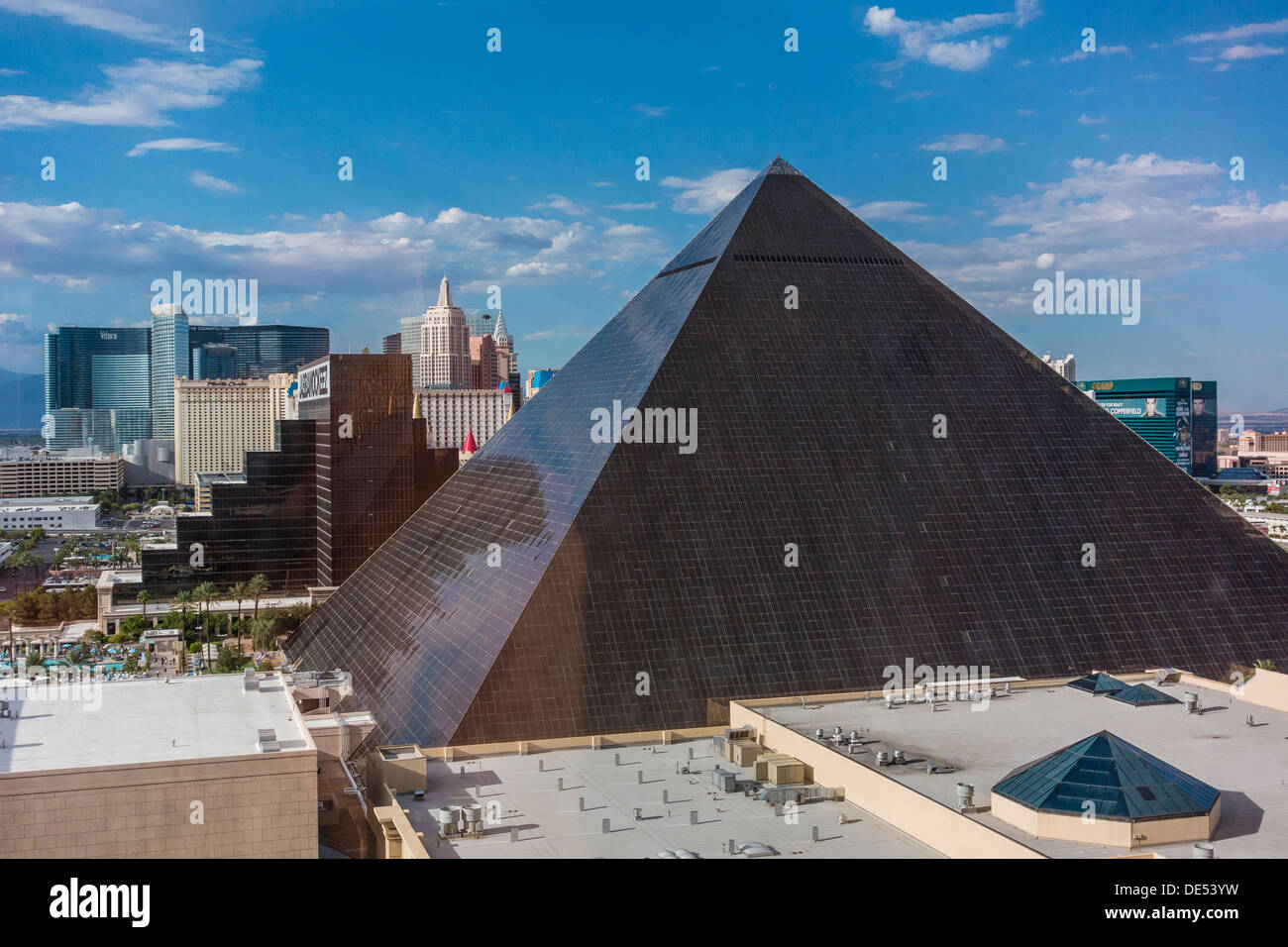 A view of some of the Las Vegas hotels on the \