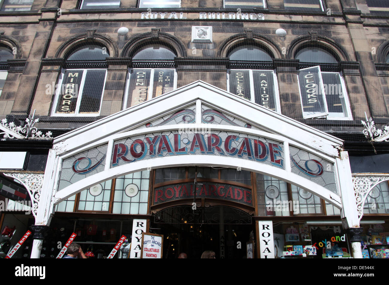 Royal Arcade on Lord Street in the seaside resort of Southport Stock Photo