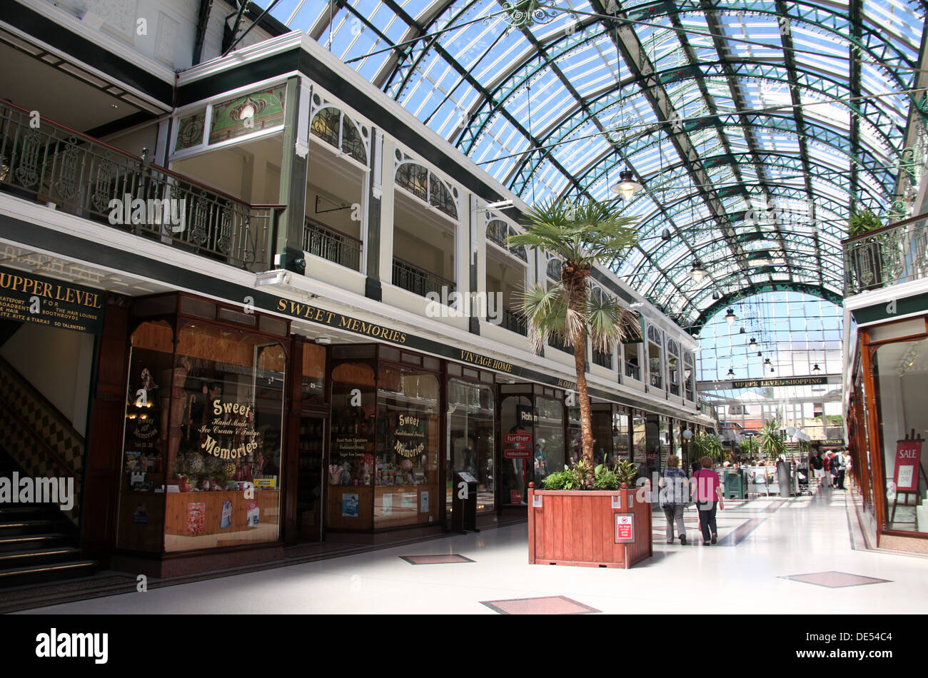 Royal Arcade in the seaside resort of Southport Stock Photo