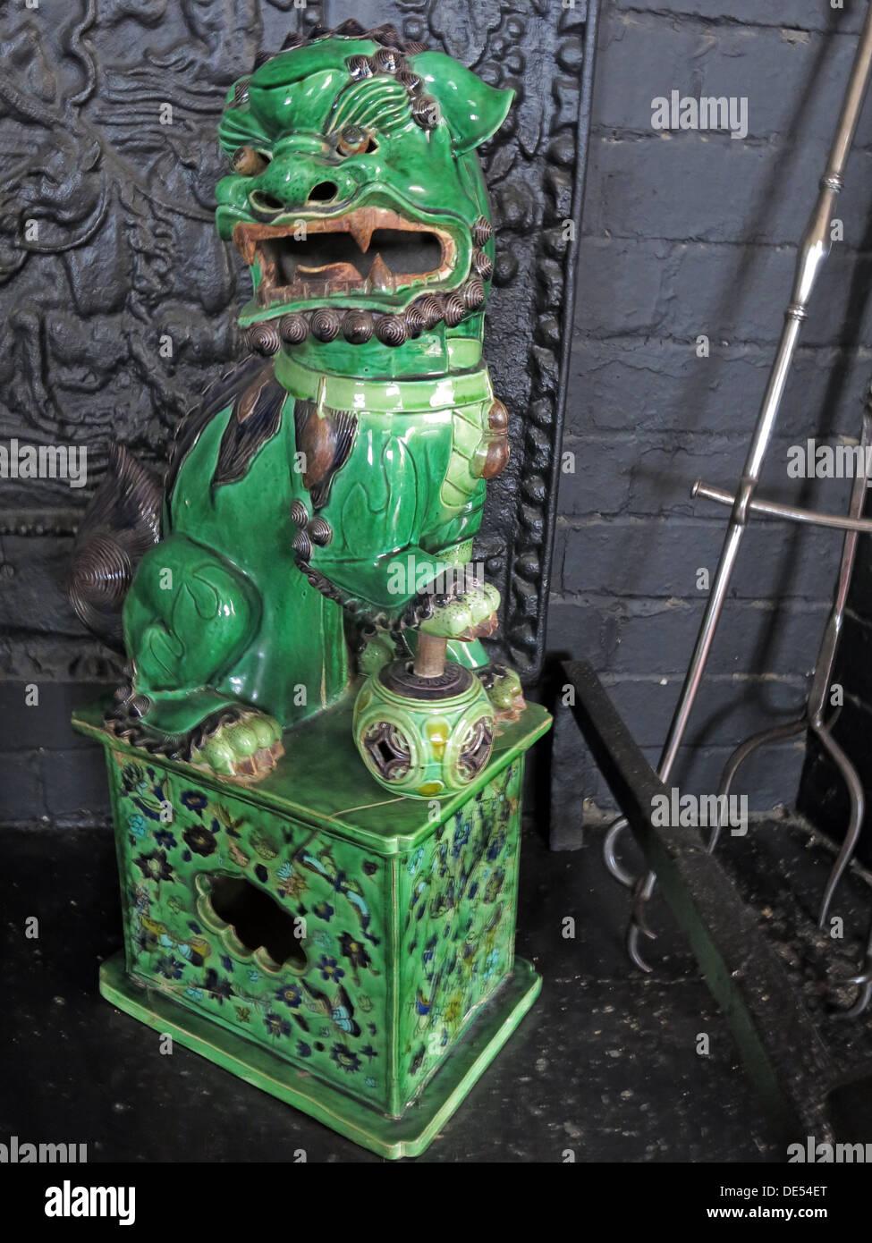Green Chinese Dragon,Montecute House,South Somerset,England,UK TA15 6XD - Stock Image
