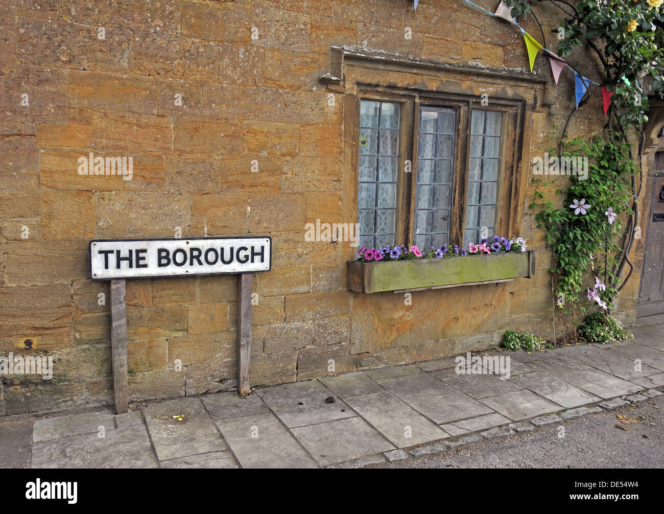 The Borough, square, Montecute, South Somerset, England, UK - Stock Image