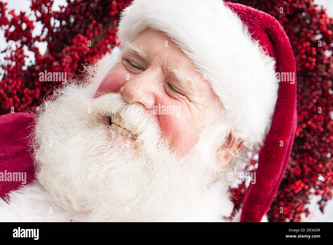 Santa is laughing out of control - Stock Image
