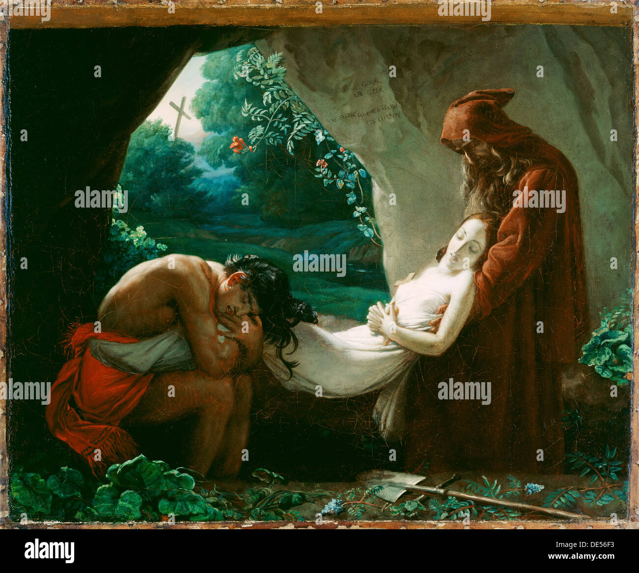 Burial of Atala; After Anne-Louis Girodet de Roucy-Trioson, French, 1767 - 1824; after 1808; Oil on canvas - Stock Image