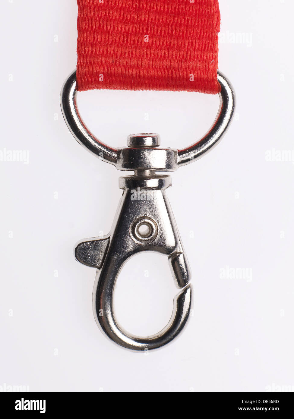 Snap hook on a red lanyard - Stock Image