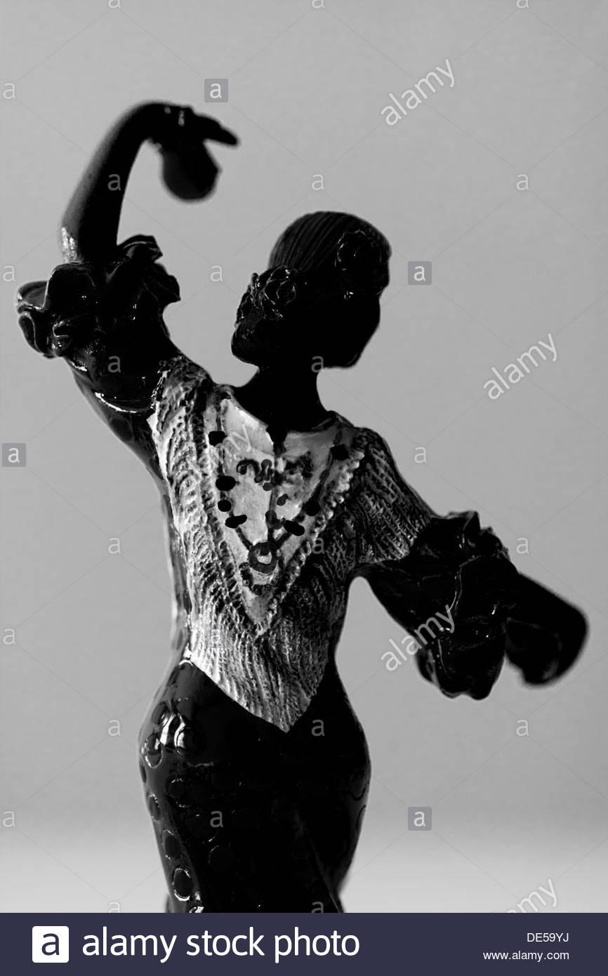 Flamenco ballerina figurine - Stock Image