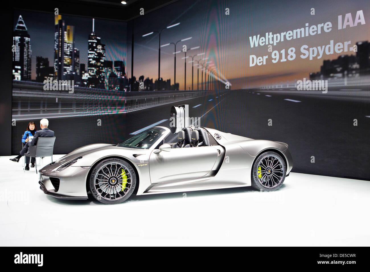 Porsche 918 Spyder shown in Frankfurt