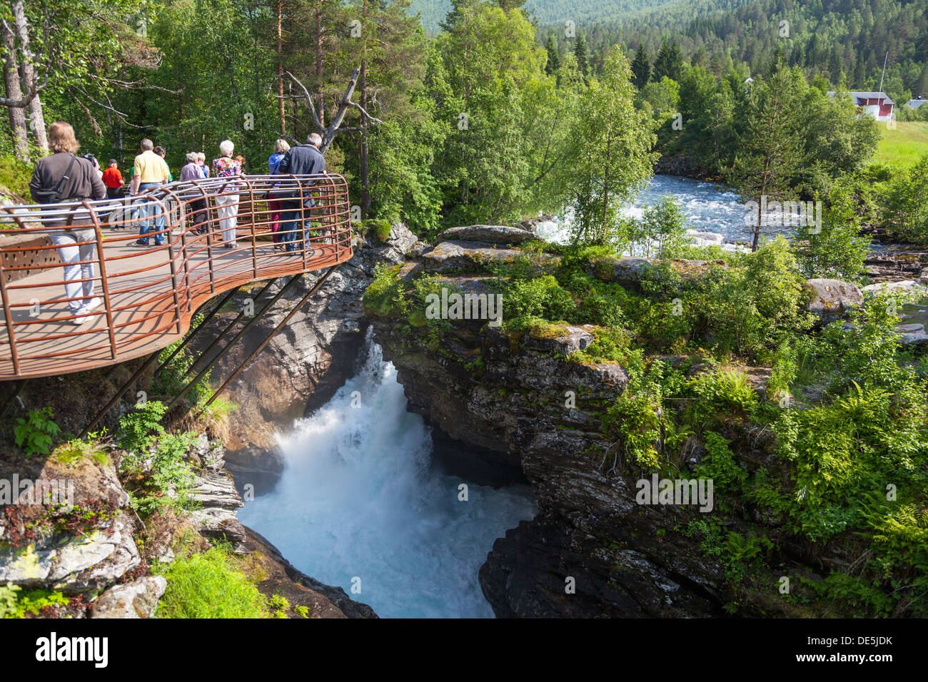 Gudbrandsjuvet gorge, part of National Tourist Route Geiranger - Stock Image