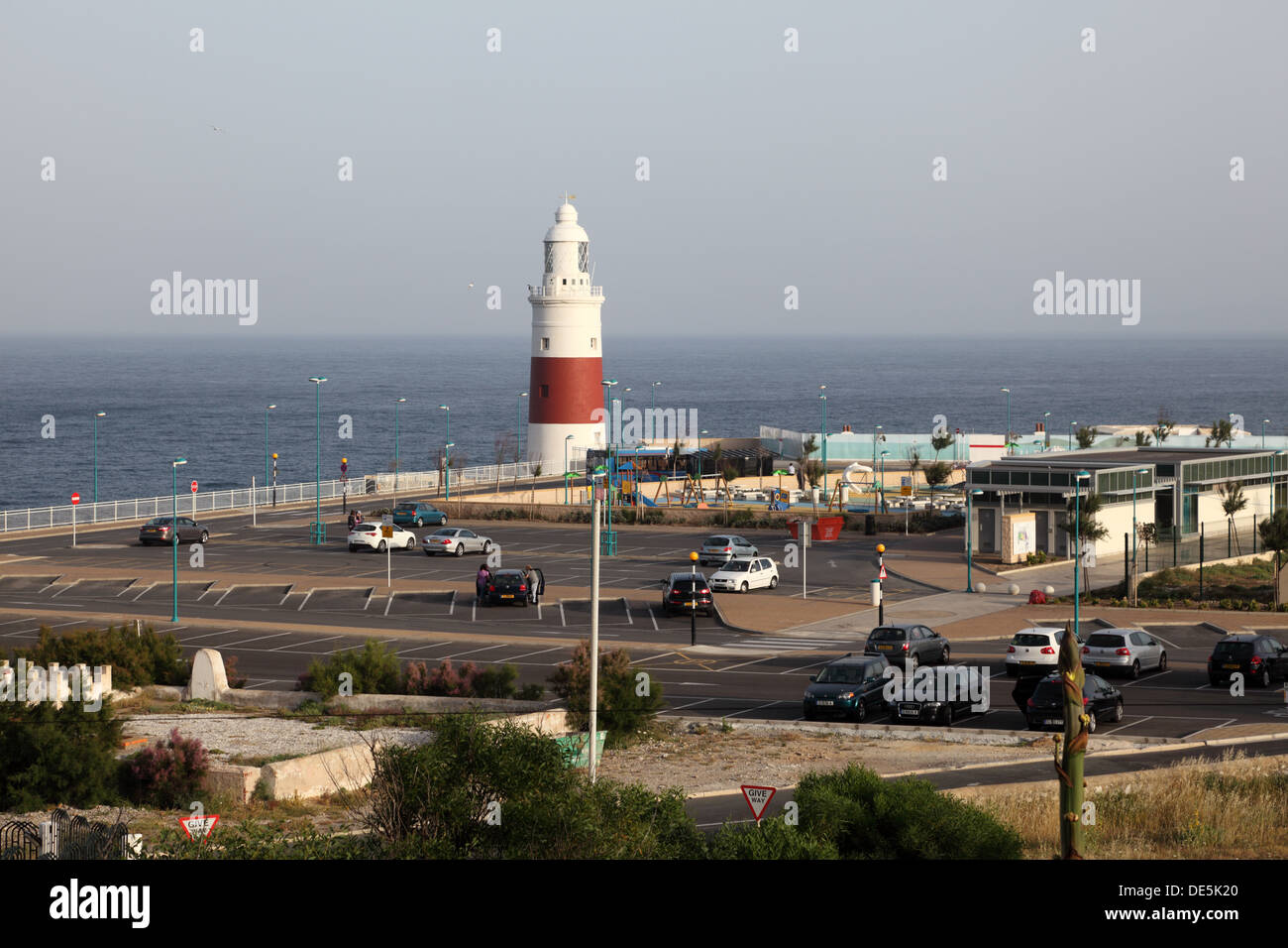 Lighthouse at the Europa Point, Gibraltar - Stock Image