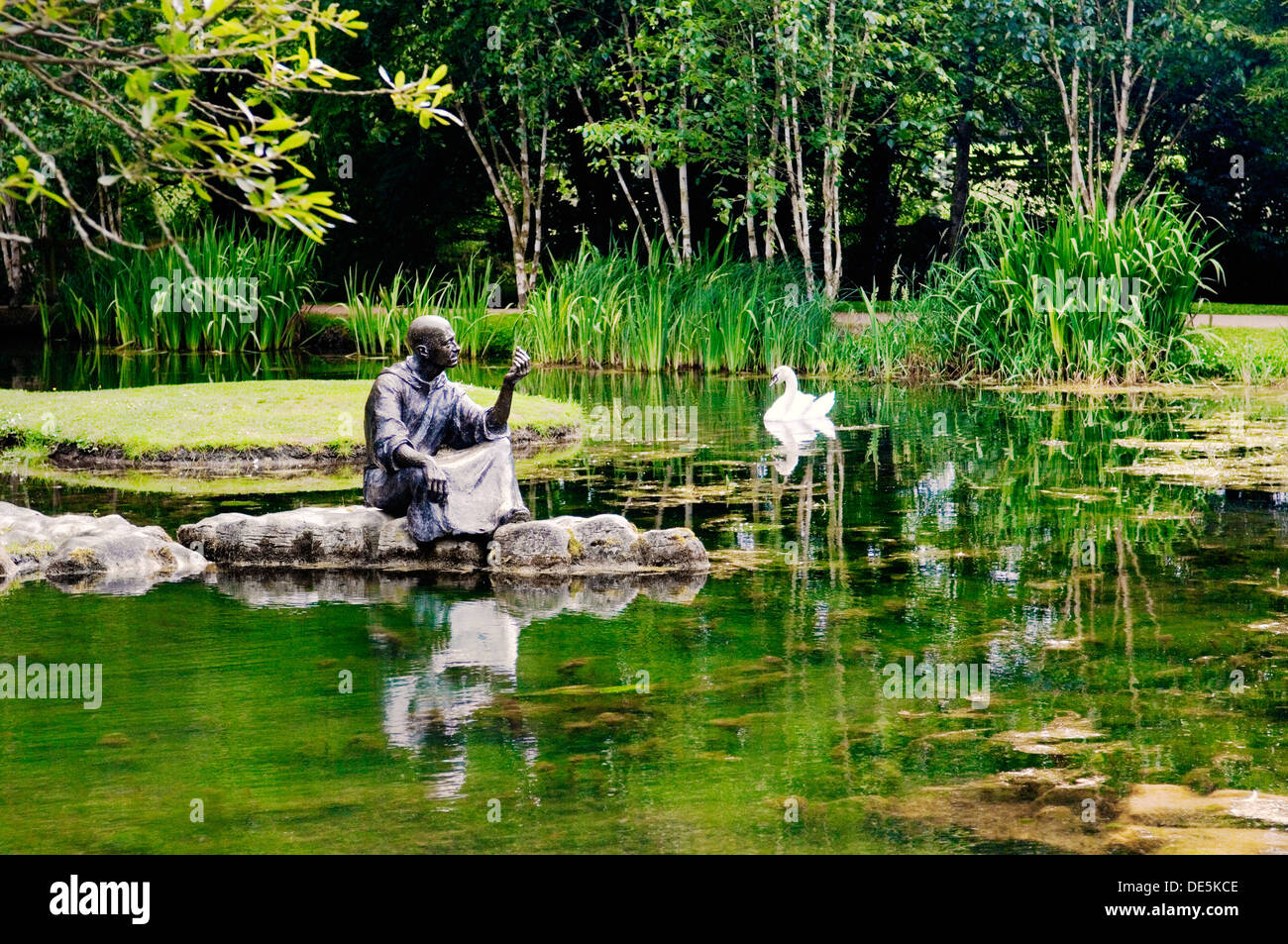 St. Fiachra's Garden, beside the Japanese Gardens in the grounds of the Irish National Stud at Tully, Kildare, Ireland - Stock Image