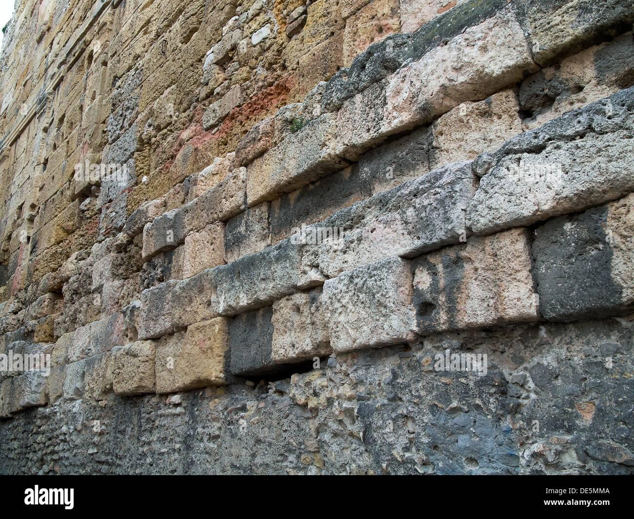 -Walls of Tarraco- Catalonian, Spain. - Stock Image
